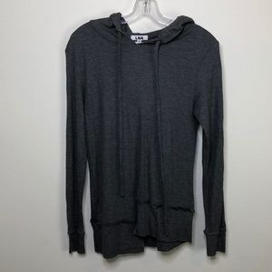 3/$45 Gray Dorian L in a thermal hoodie
